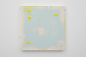 Timothy Chapman, 'Panel:white,blue,yellow-1' 2015, Pine stretcher, canvas, polyester resin, polyester filler